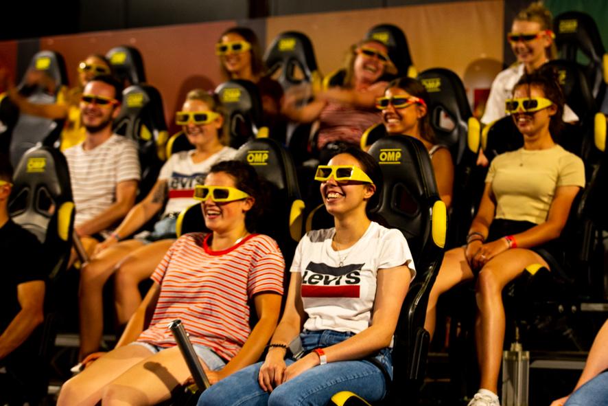 Cinéma - ange michel - 7D - lunettes 3D - parc d'attraction - film