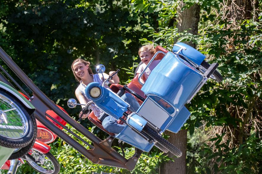Sidecars volants - Parc Ange Michel