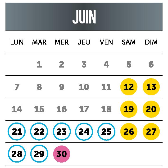 Calendrier juin2021- par Ange Michel